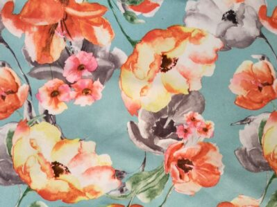 Ткань замша принт купить оптом Palmira Textile Group Украина