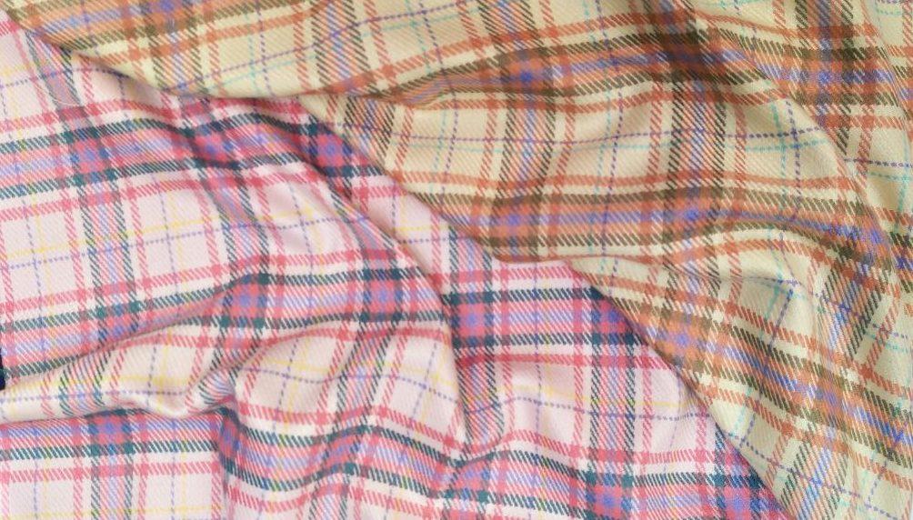 Ткань костюмная клетка купить оптом и в розницу в Пальмира Текстиль