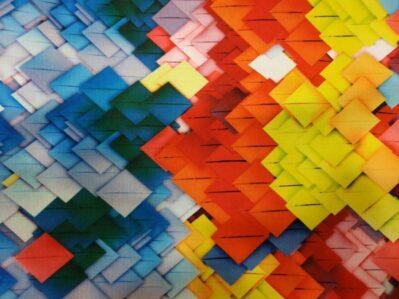 Ткань лен 3D принт купить оптом и в розницу в Украине