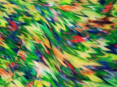 Ткань штапель зигзаг зеленый купить оптом и в розницу в Украине